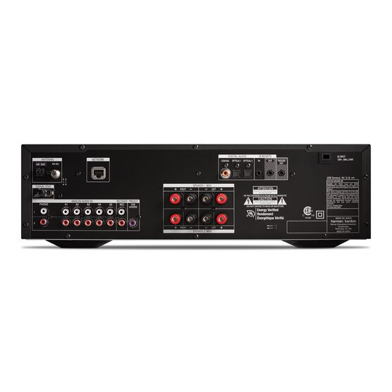 HK 3770 - Black - 240 watt stereo receiver with network connectivity - Back