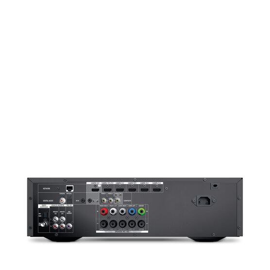 AVR 1610S - Black - 425-watt, 5.1-channel, networked A/V receiver with HARMAN TrueStream, Bluetooth technology and five HDMI® 2.0 inputs including an MHL port - Back