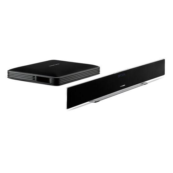 Sabre SB 35 - Black - Devastatingly slim home entertainment soundbar with compact subwoofer. - Detailshot 2