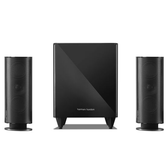 HKTS 200 - Black - A 2.1-channel home theater speaker system with powered subwoofer - Front