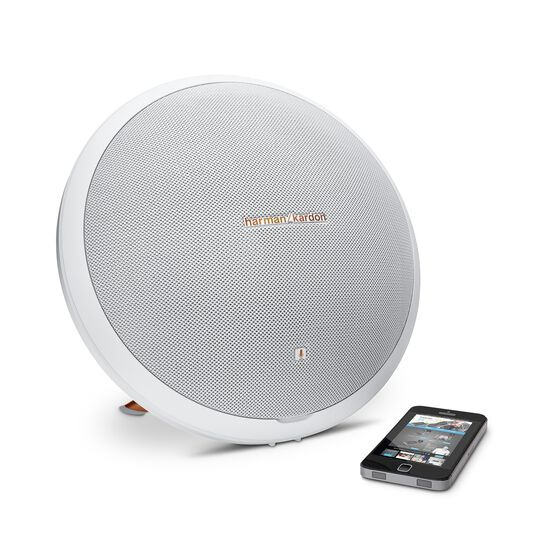 Onyx Studio 2 - White - Wireless Speaker System with rechargeable battery and built-in microphone - Detailshot 4