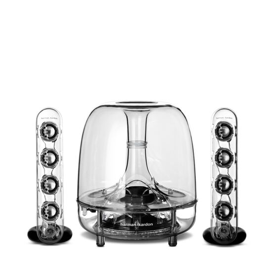 SoundSticks III - Clear - Three-piece, 2.1-channel multimedia sound system - Hero