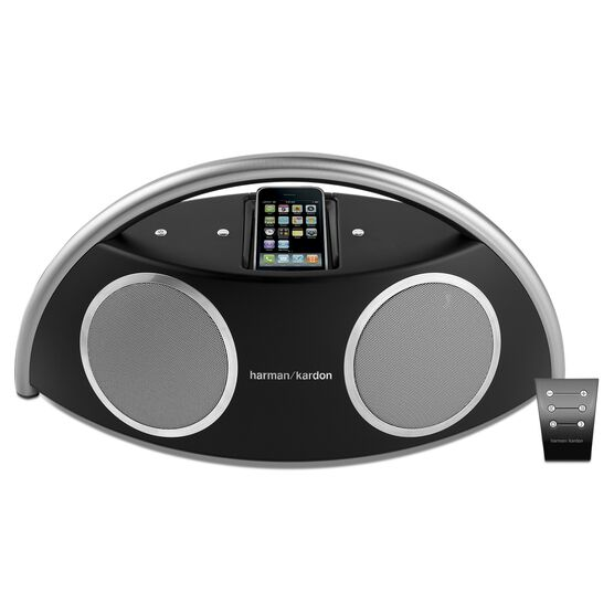 Go + Play™ II - Black - Powerful Portable Speaker Dock for iPhone/iPod - Front