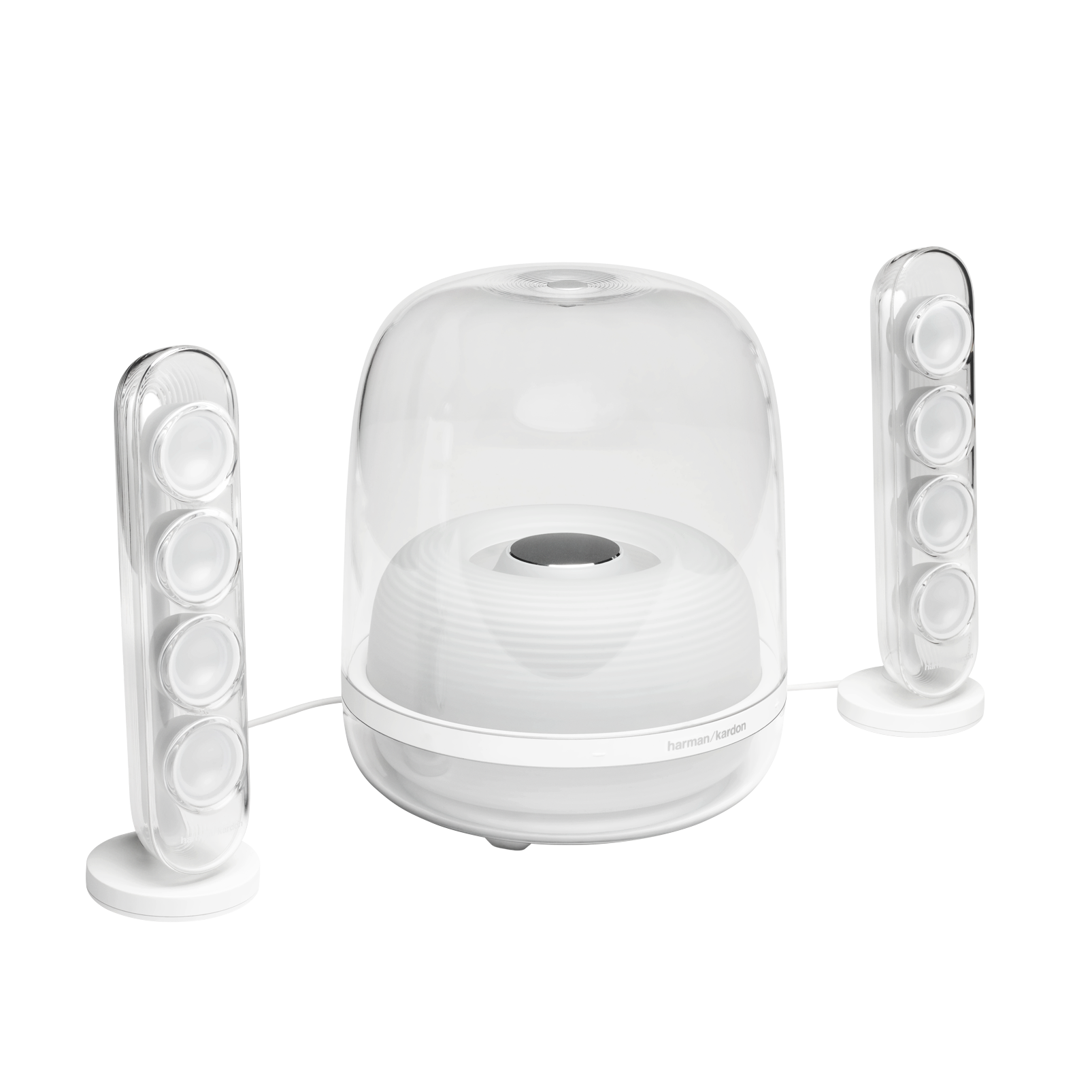 Harman Kardon SoundSticks 4 - White - Bluetooth Speaker System - Hero