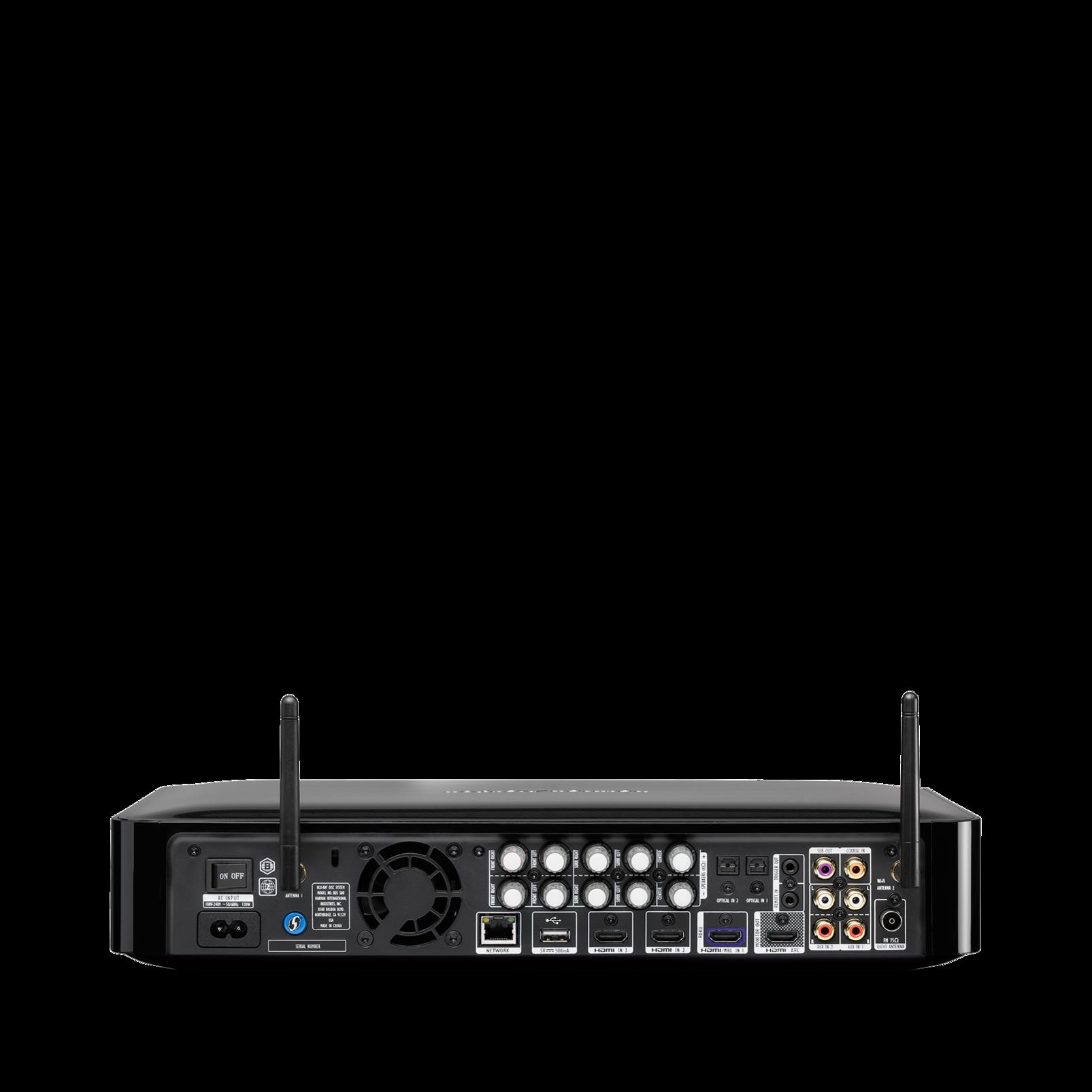 BDS 580 - Black - 5.1-channel, 325-watt, 3D Blu-ray Disc™ System - Back