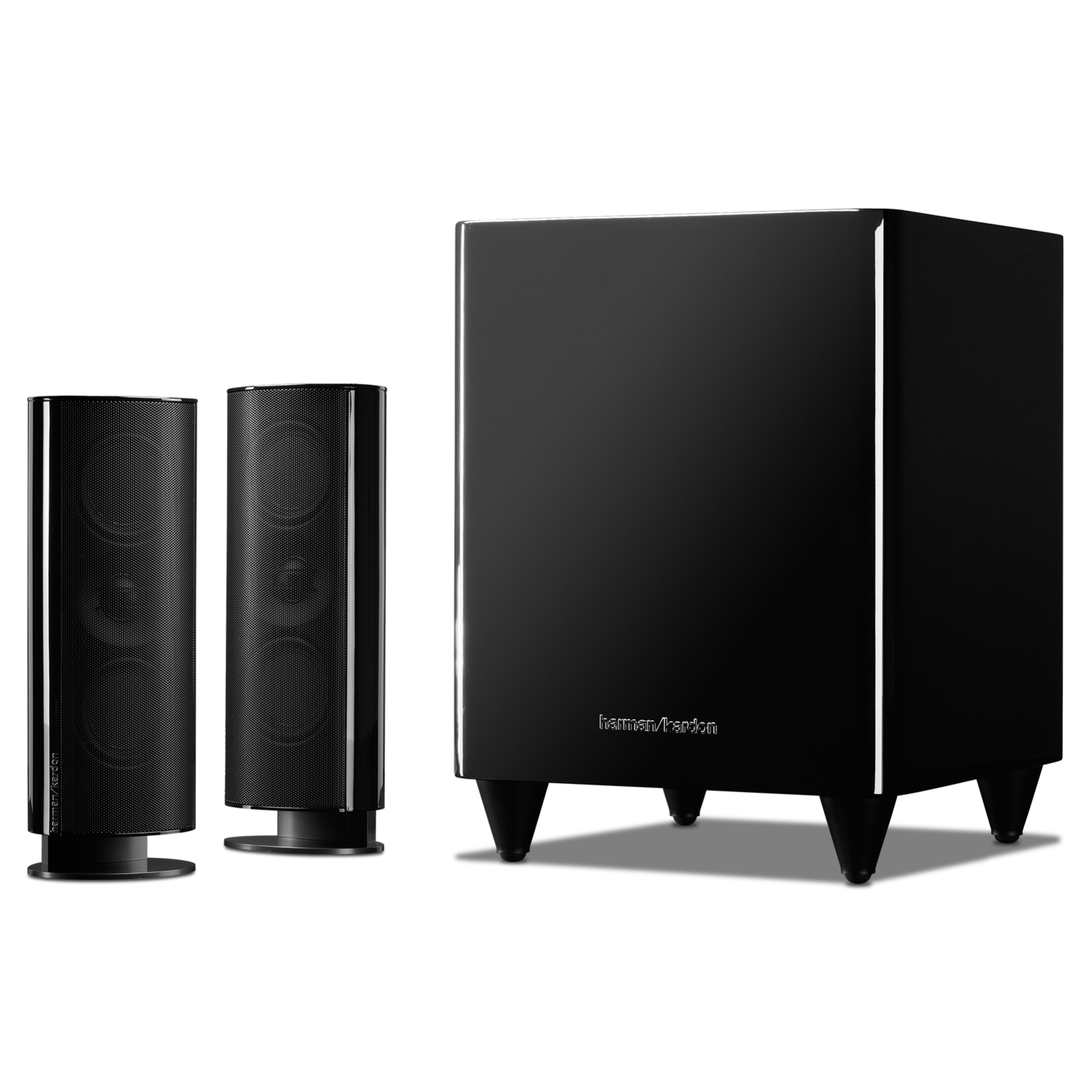 HKTS 200 - Black - A 2.1-channel home theater speaker system with powered subwoofer - Detailshot 1