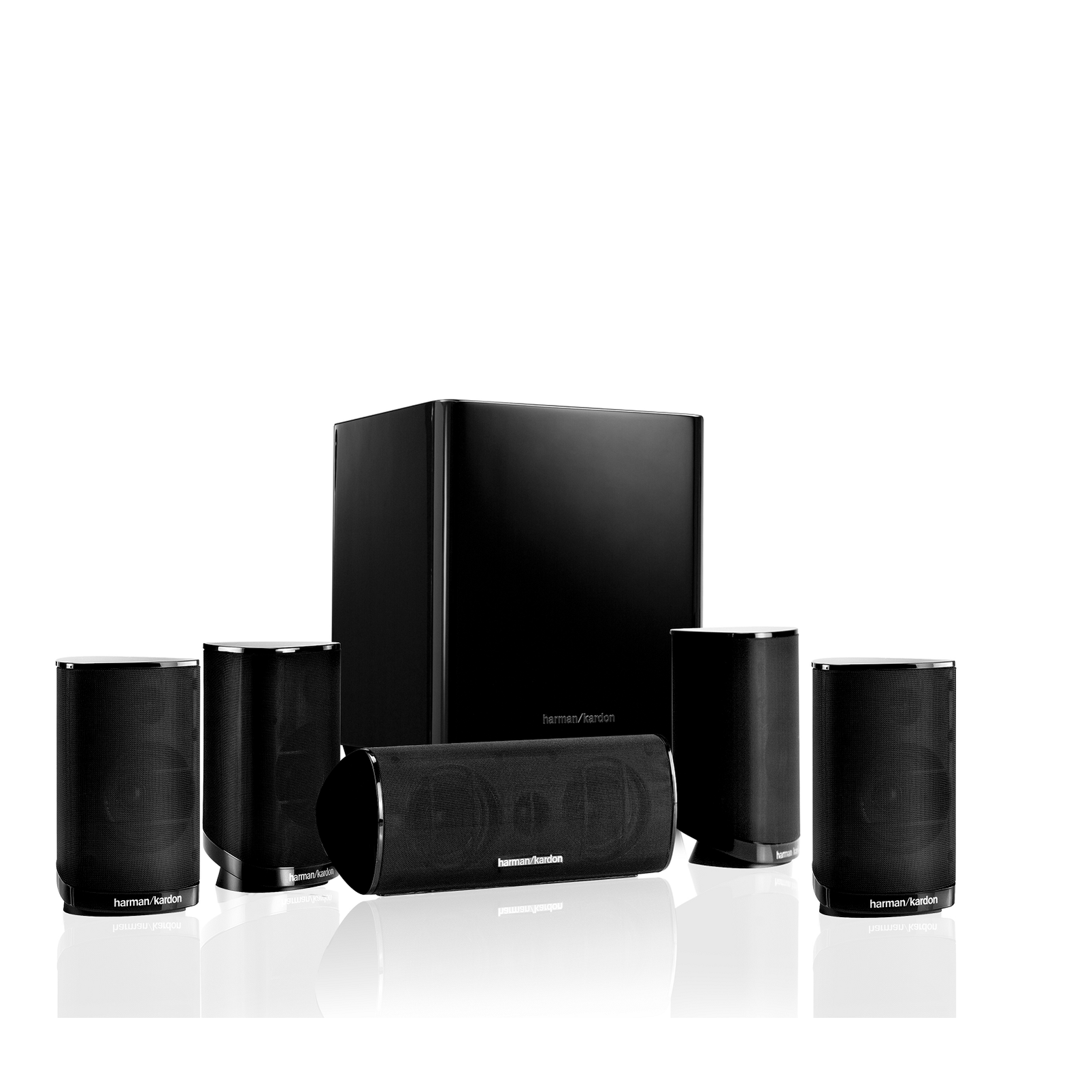HKTS 9 - Black - 5.1-channel home theater speaker system with powered subwoofer - Hero