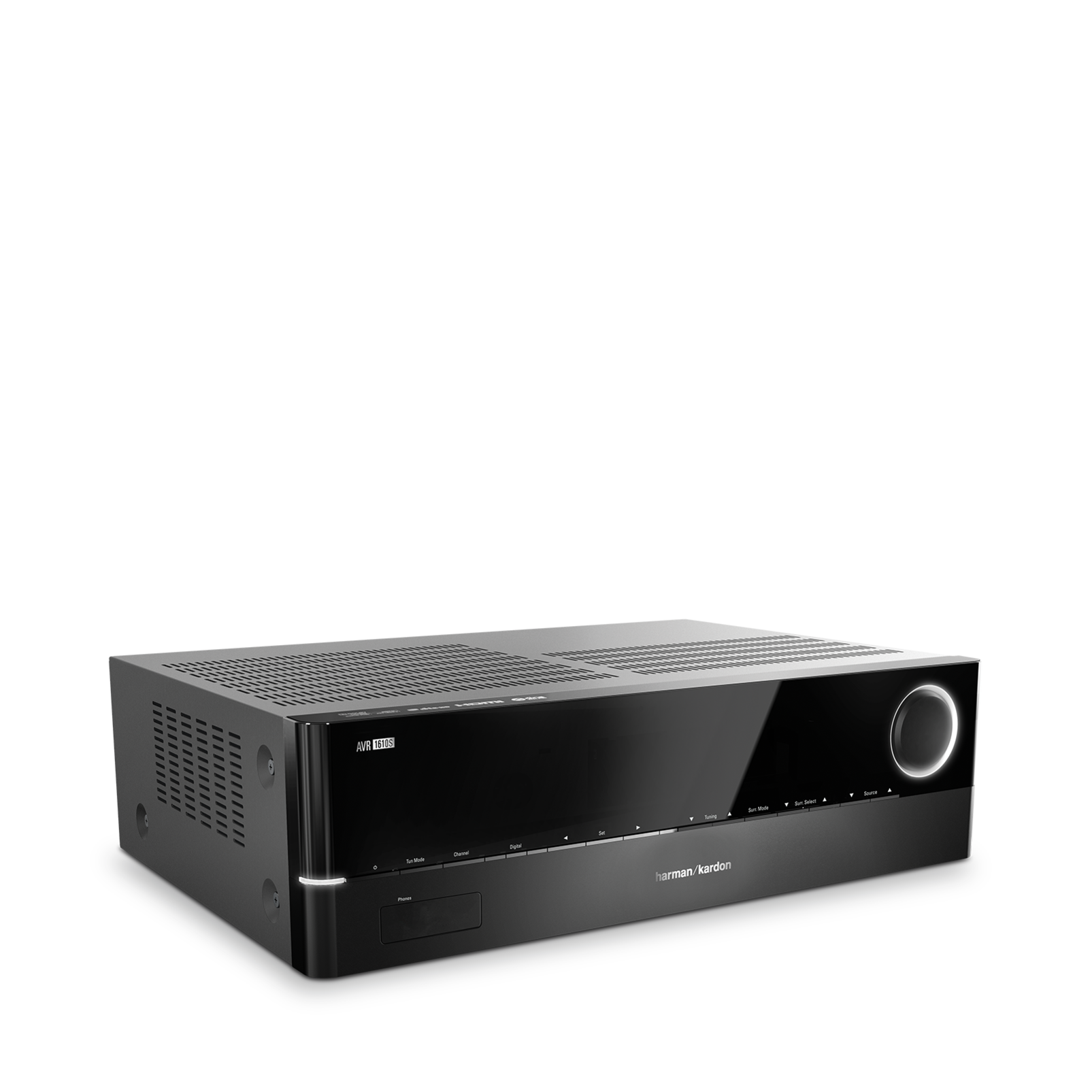 AVR 1610S - Black - 425-watt, 5.1-channel, networked A/V receiver with HARMAN TrueStream, Bluetooth technology and five HDMI® 2.0 inputs including an MHL port - Hero
