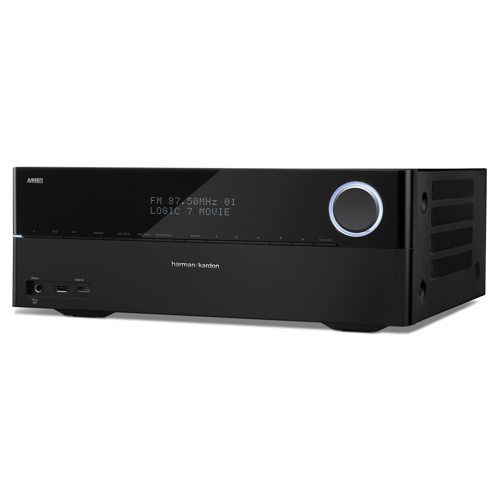 AVR 3700 - Black - Audio/Video Receiver With Dolby TrueHD & DTS-HD Master Audio & HDMI 1.4 (125 watts x 7) 7.2 - Hero