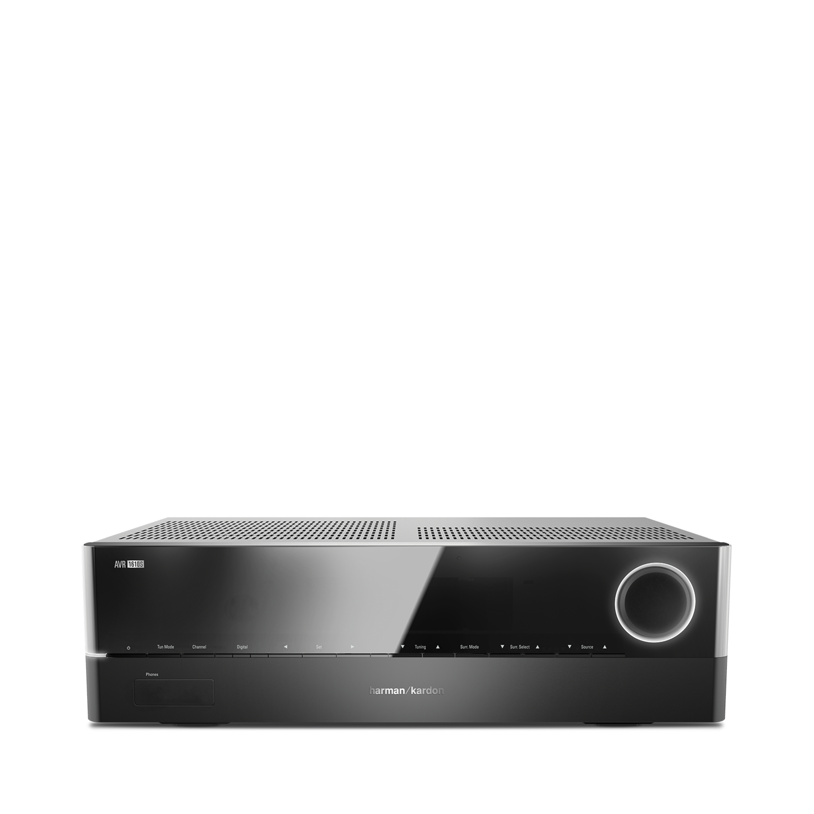 AVR 1610S - Black - 425-watt, 5.1-channel, networked A/V receiver with HARMAN TrueStream, Bluetooth technology and five HDMI® 2.0 inputs including an MHL port - Front