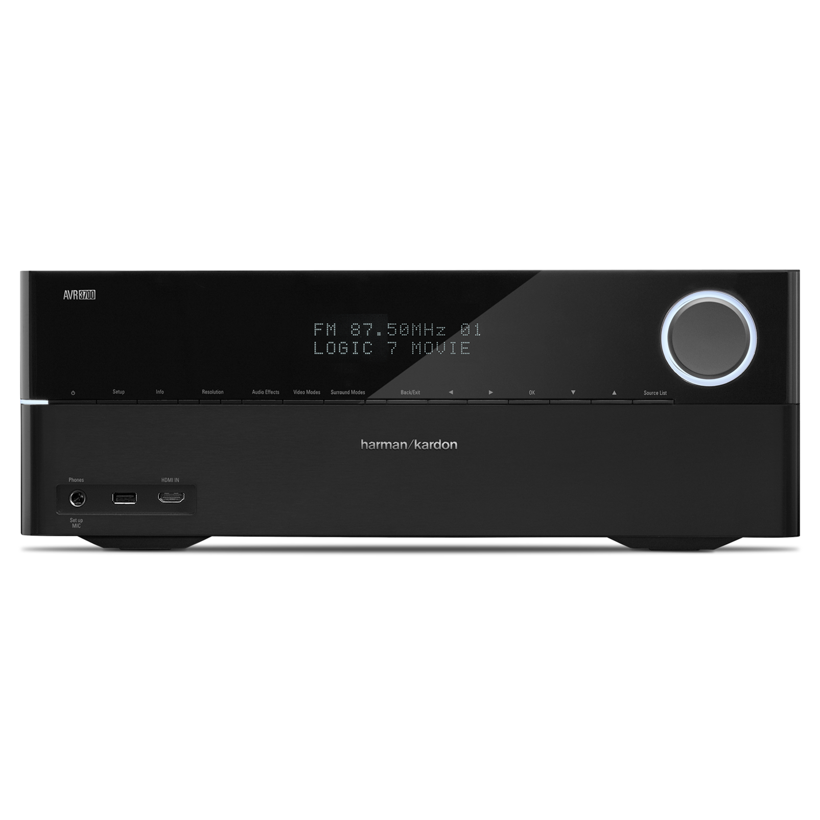 AVR 3700 - Black - Audio/Video Receiver With Dolby TrueHD & DTS-HD Master Audio & HDMI 1.4 (125 watts x 7) 7.2 - Front